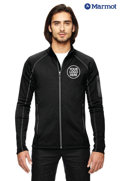 Marmot 80840 Black Stretch Fleece Jacket Logo