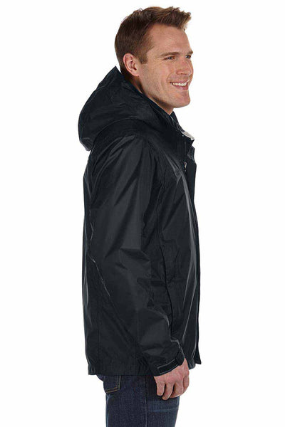 Marmot 41200 Black PreCip Nylon Hooded Jacket Side