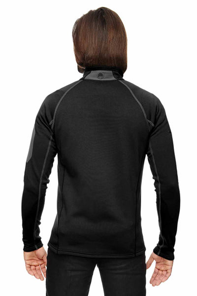 Marmot 80840 Black Stretch Fleece Jacket Back