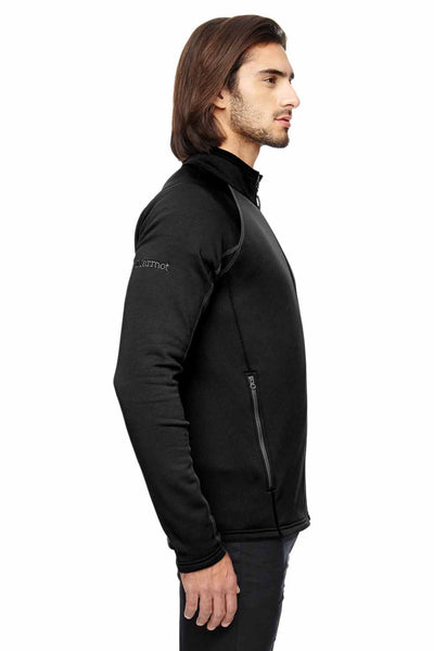 Marmot 80840 Black Stretch Fleece Jacket Side