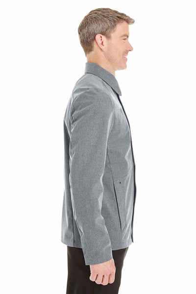 North End NE705 Grey Edge Polyester Soft Shell Jacket Side
