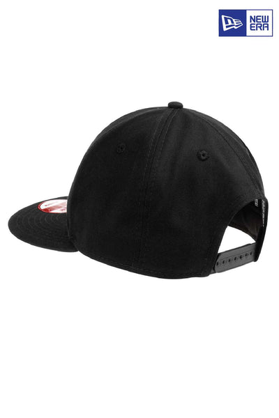 New Era NE400 Black Flat Bill Snapback Hat Back