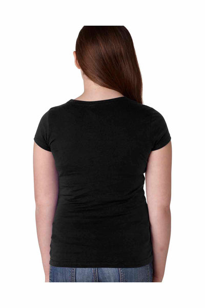 Next Level N3710 Black Princess Cotton Short Sleeve Crewneck T-Shirt Back