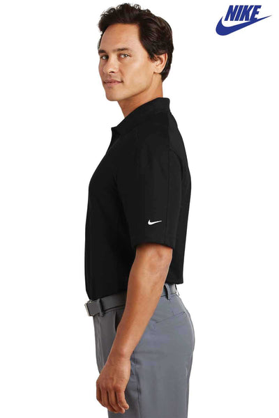 Nike 244612 Black Dri-Fit Pique II Blend Short Sleeve Polo Shirt Side