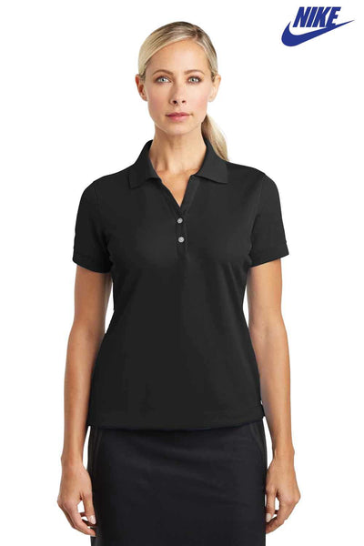 Nike 286772 Black Dri-Fit Polyester Tech Short Sleeve Polo Shirt Front