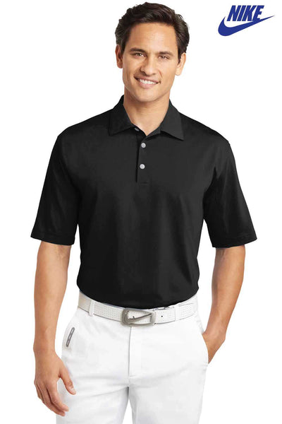 Nike 354055 Black Sphere Dry Blend Diamond Short Sleeve Polo Shirt Front