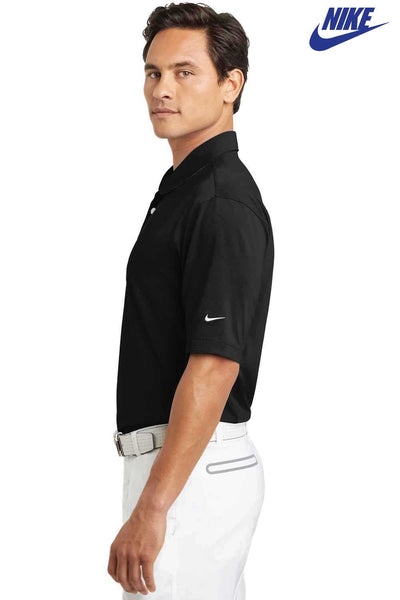 Nike 354055 Black Sphere Dry Blend Diamond Short Sleeve Polo Shirt Side