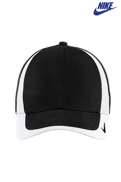 Nike 354062 Black/White Dri-Fit Technical Colorblock Hat Front