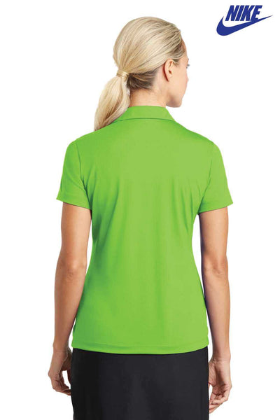 Nike 637165 Action Green Dri-Fit Polyester Vertical Mesh Short Sleeve Polo Shirt Back
