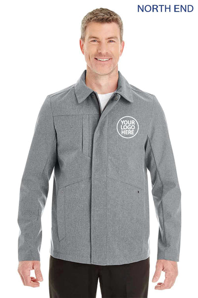 North End NE705 Grey Edge Polyester Soft Shell Jacket Embroidery