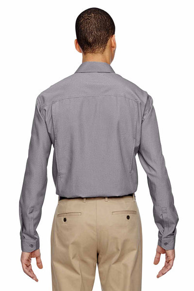 North End 87046 Graphite Grey Excursion F.B.C. Performance Blend Textured Long Sleeve Button Down Shirt Back