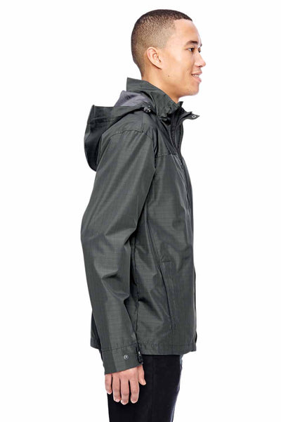 North End 88216 Graphite Grey Excursion Transcon Lightweight Polyester Hooded Jacket Side