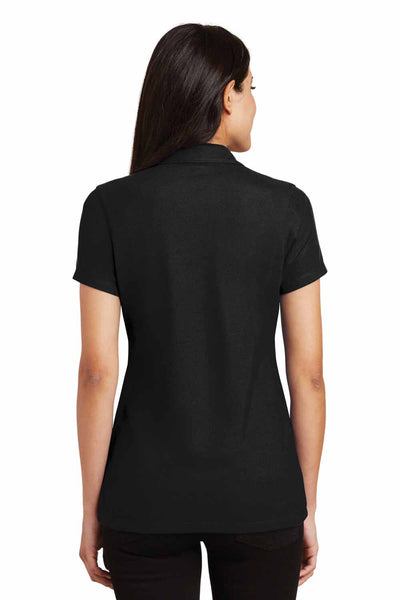 Port Authority L5001 Black Silk Touch Blend Short Sleeve Polo Shirt Back