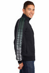Sport-Tek JST93 Black/Forest Green Polyester Tricot Dot Sublimation Athletic Jacket Side