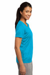 Sport-Tek LST350 Atomic Blue PosiCharge Polyester Competitor Short Sleeve Crewneck T-Shirt Side