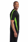 Sport-Tek ST351 Black/Lime Green  Side