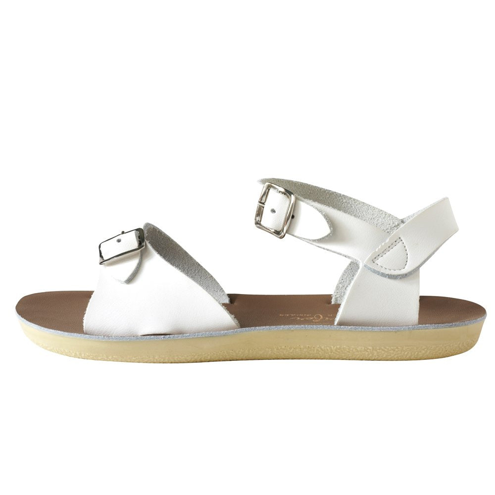 salt water sandals sun san surfer white