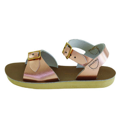 salt water sandals sun san surfer rose gold