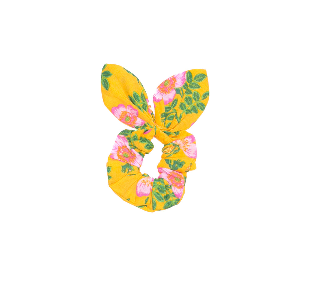 Coco & Ginger - Bunny scrunchie yellow dogwood rose