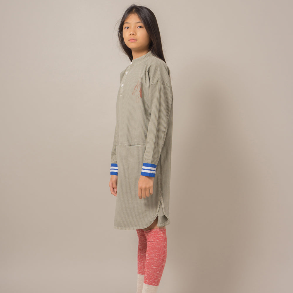 bobo choses loup embroidery tunic dress