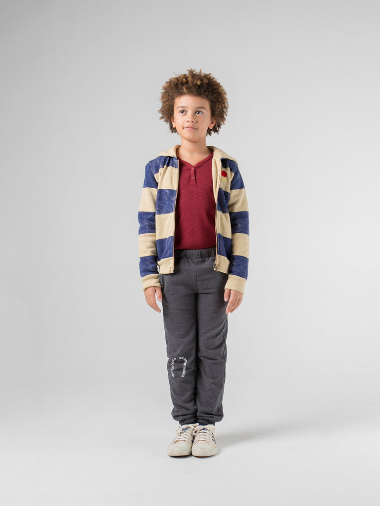 bobo choses striped mercury hooded sweatshirt