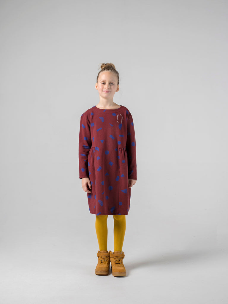 bobo choses all over stuff fleece dress