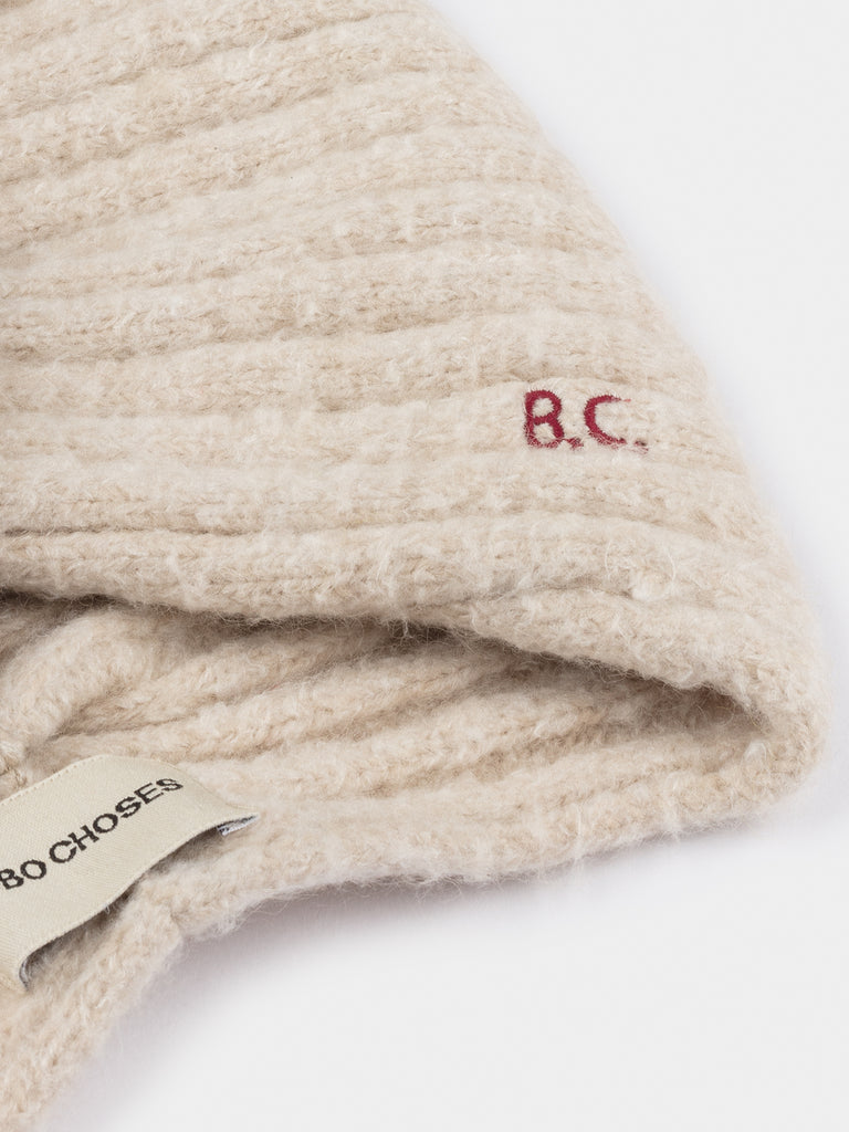 bobo choses twist beige beanie