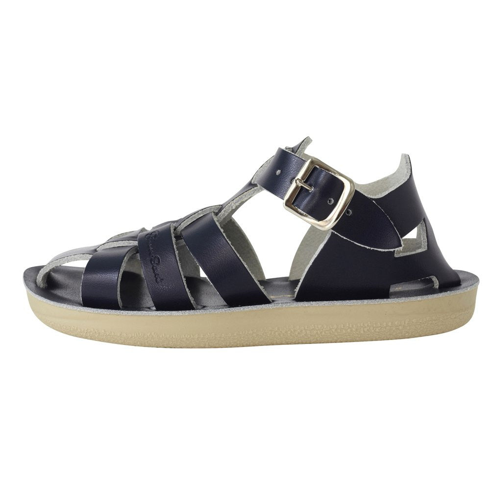 salt water sandals sun san shark navy
