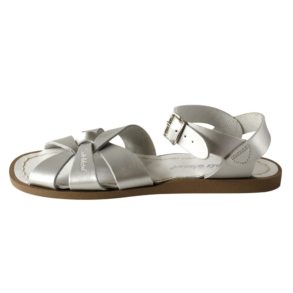 salt water sandals children's silver