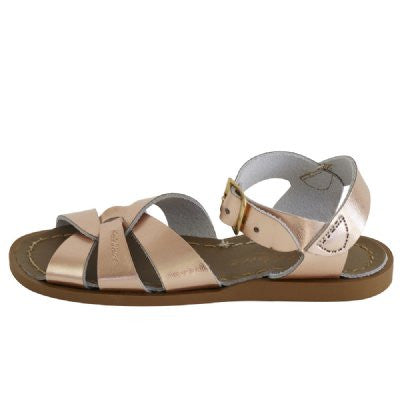 salt water sandals children's rose gold