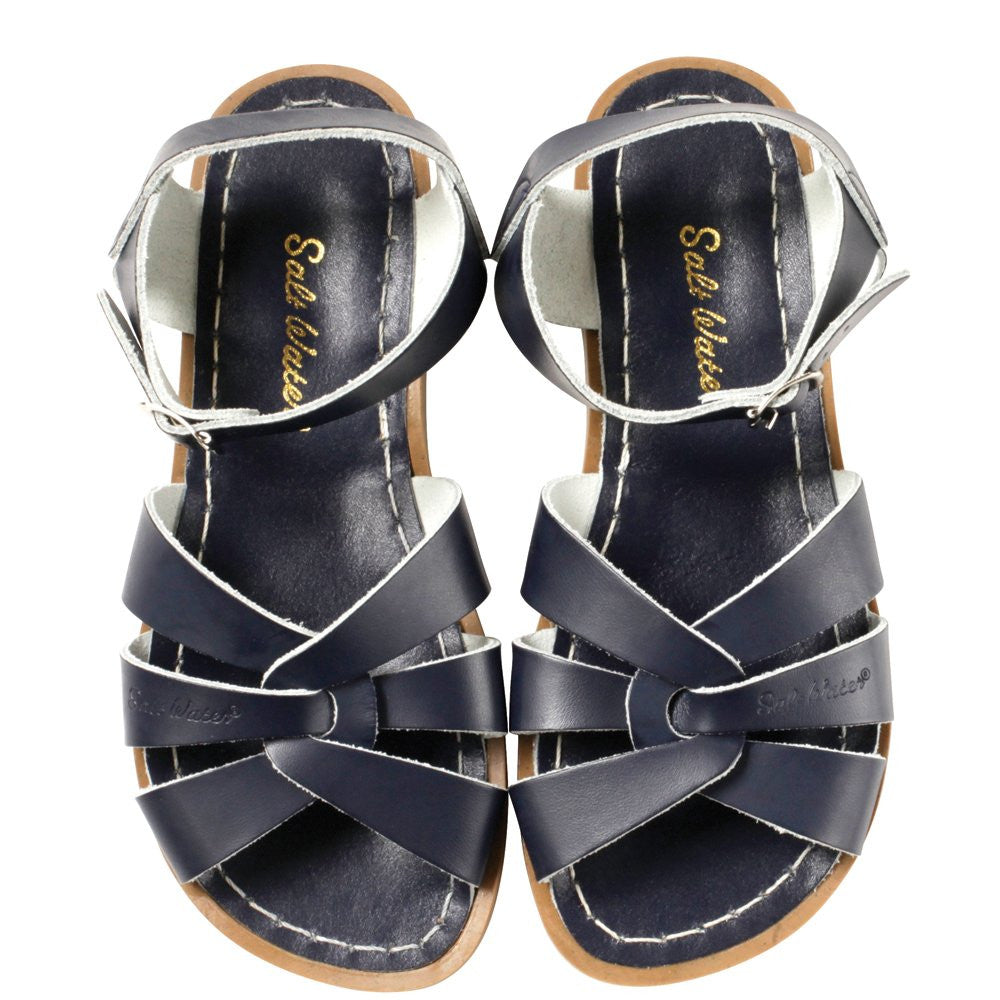 salt water sandals women's navy