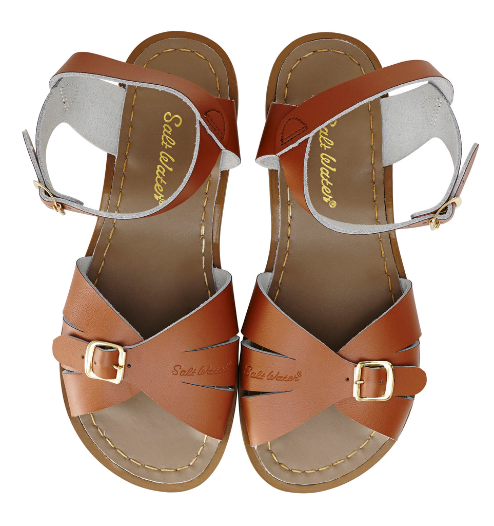 salt water sandals women's classic tan
