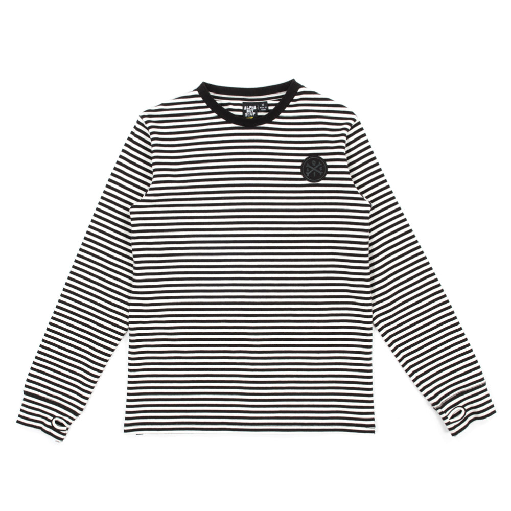 alphabet soup basic stripe l/s tee
