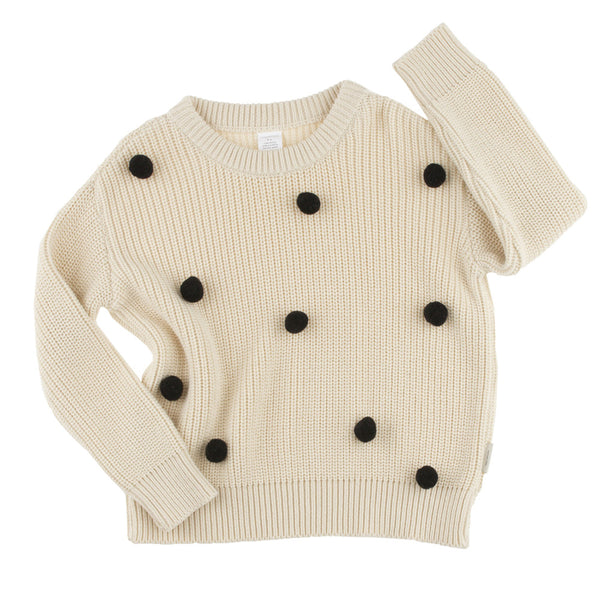 tiny cottons pom poms sweater