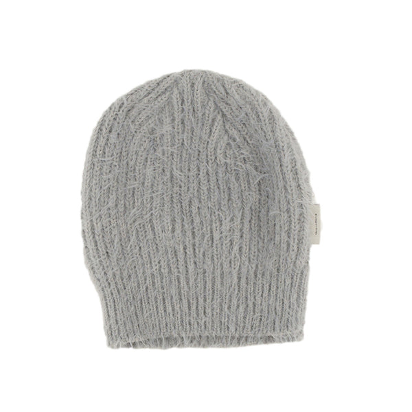 tiny cottons hairy knitted beanie