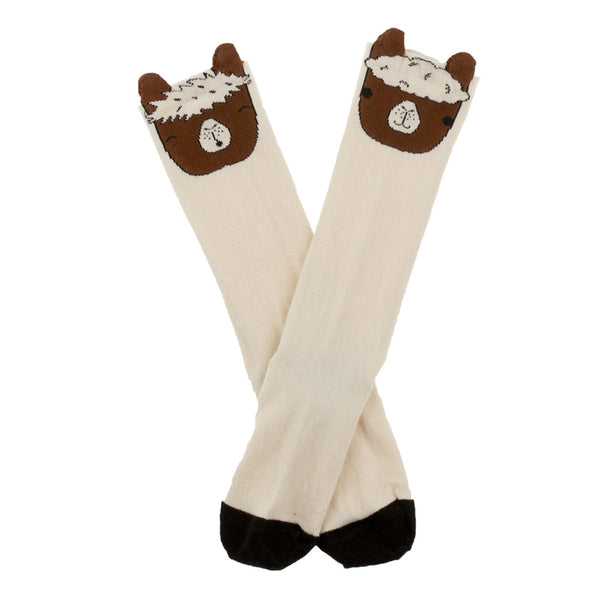 tiny cottons llamas head high socks