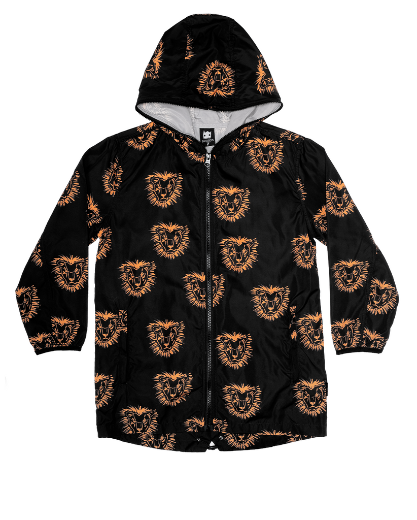 band of boys rain jacket lion mane - black
