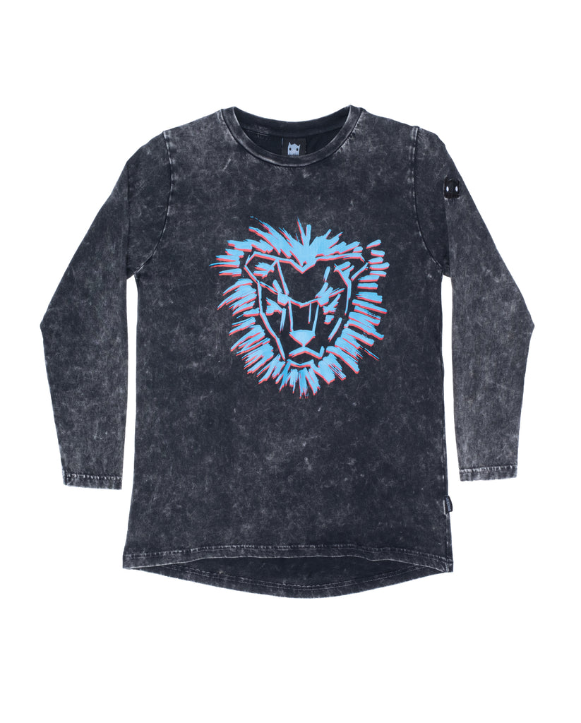 band of boys Lion Mane Scoop Vintage LS Tee - Black