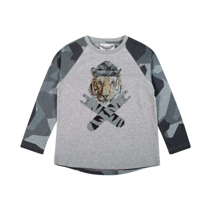 Paper wings - Long sleeve raglan tee - rock on