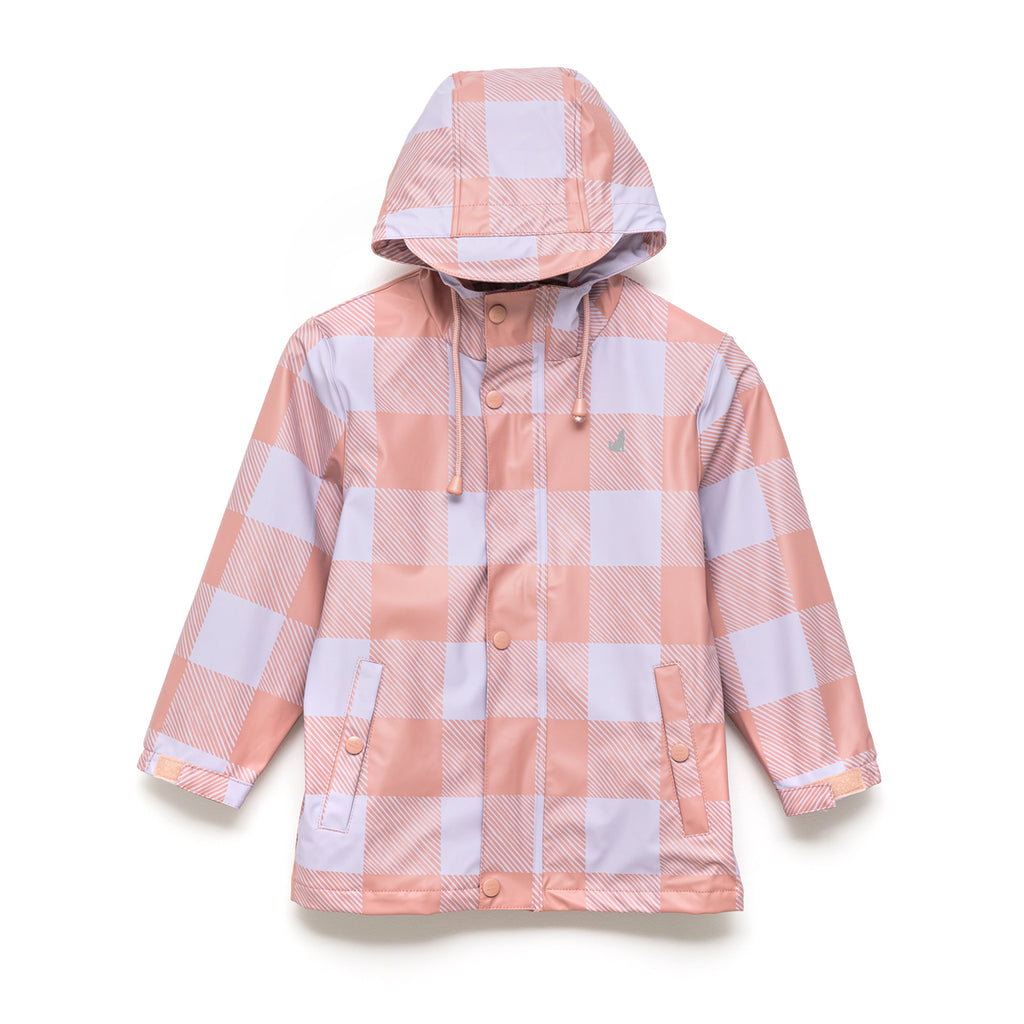 Crywolf Play Jacket Lilac Plaid Raincoat - PRE-ORDER (Stock due early March 21)