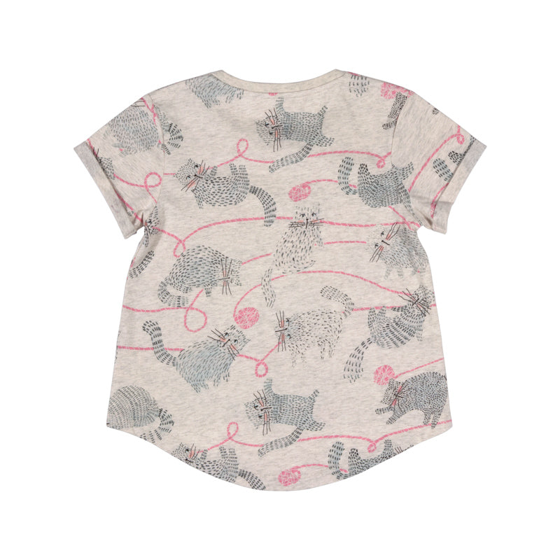 paper wings tee with cuff - yarn kitty