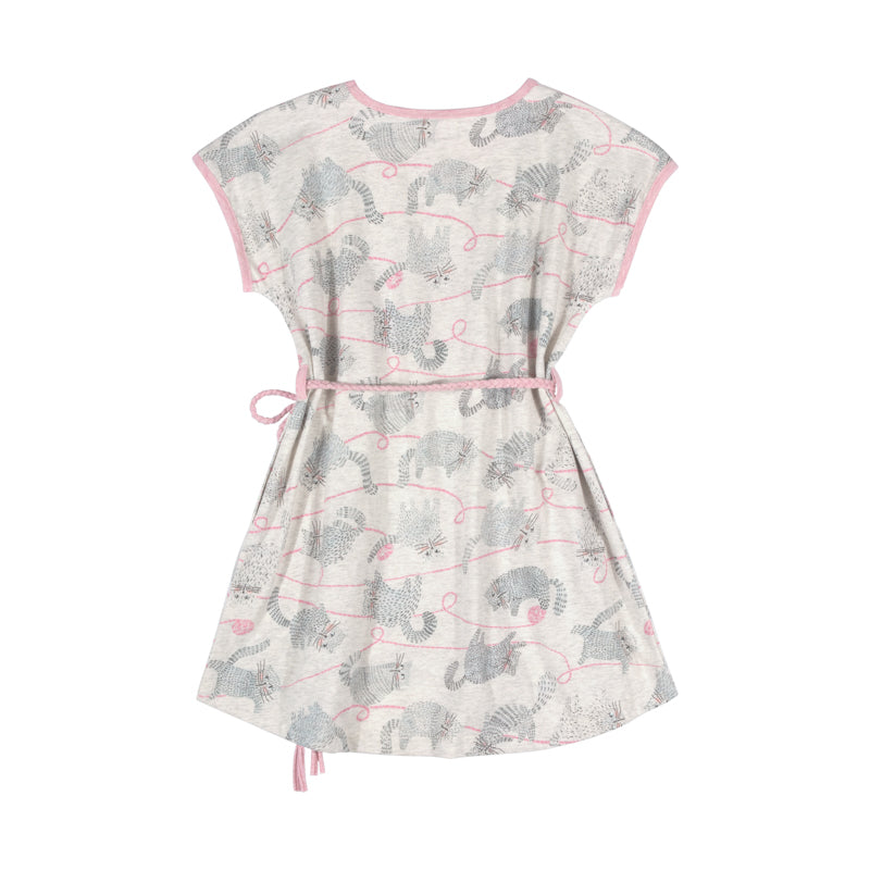 paper wings tee dress with plaited belt - yarn kitty