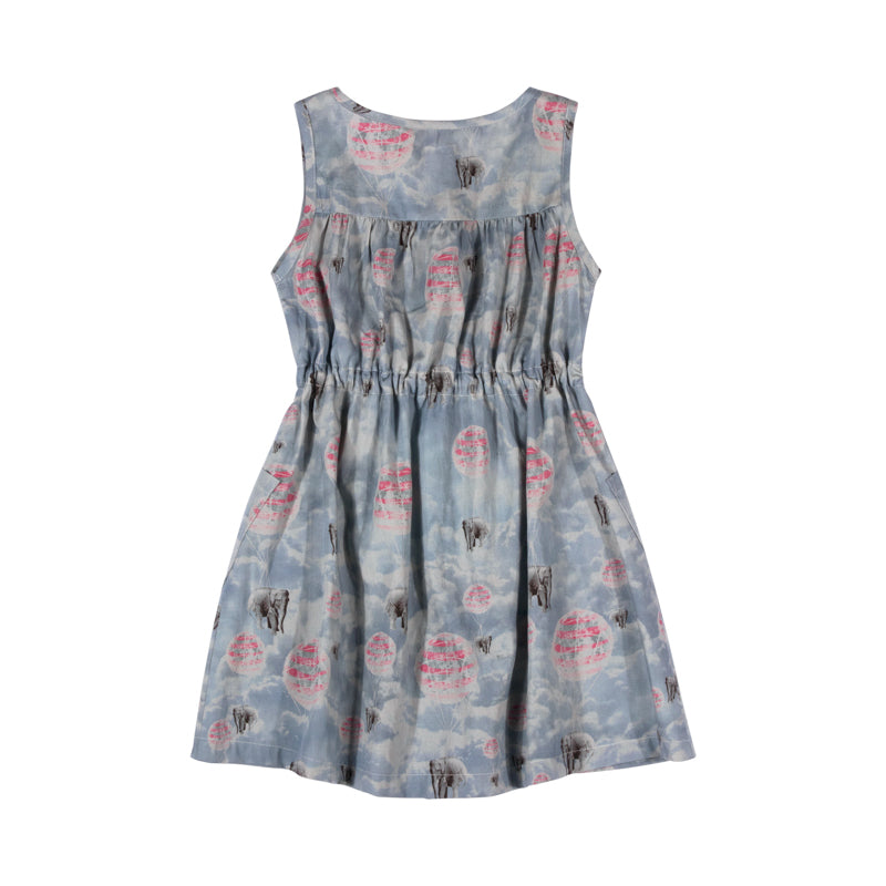 paper wings tee drawstring shift dress - elephant ride