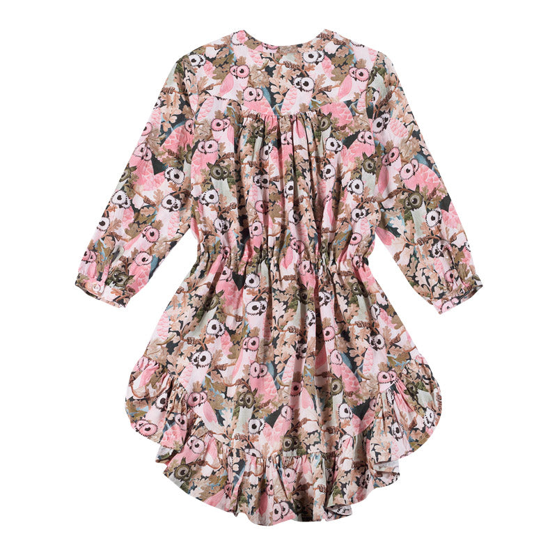 Paper wings - shirt dress - owls