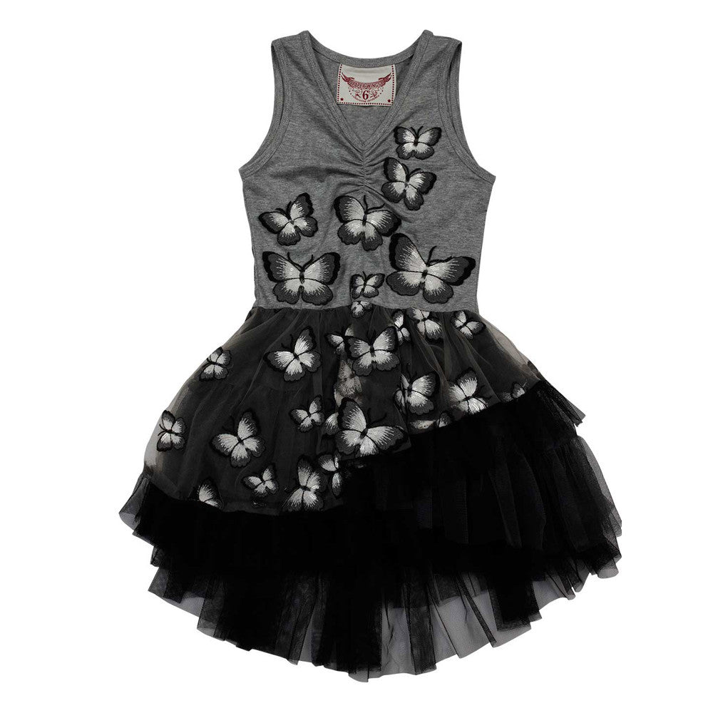 paper wings butterfly leotard dress