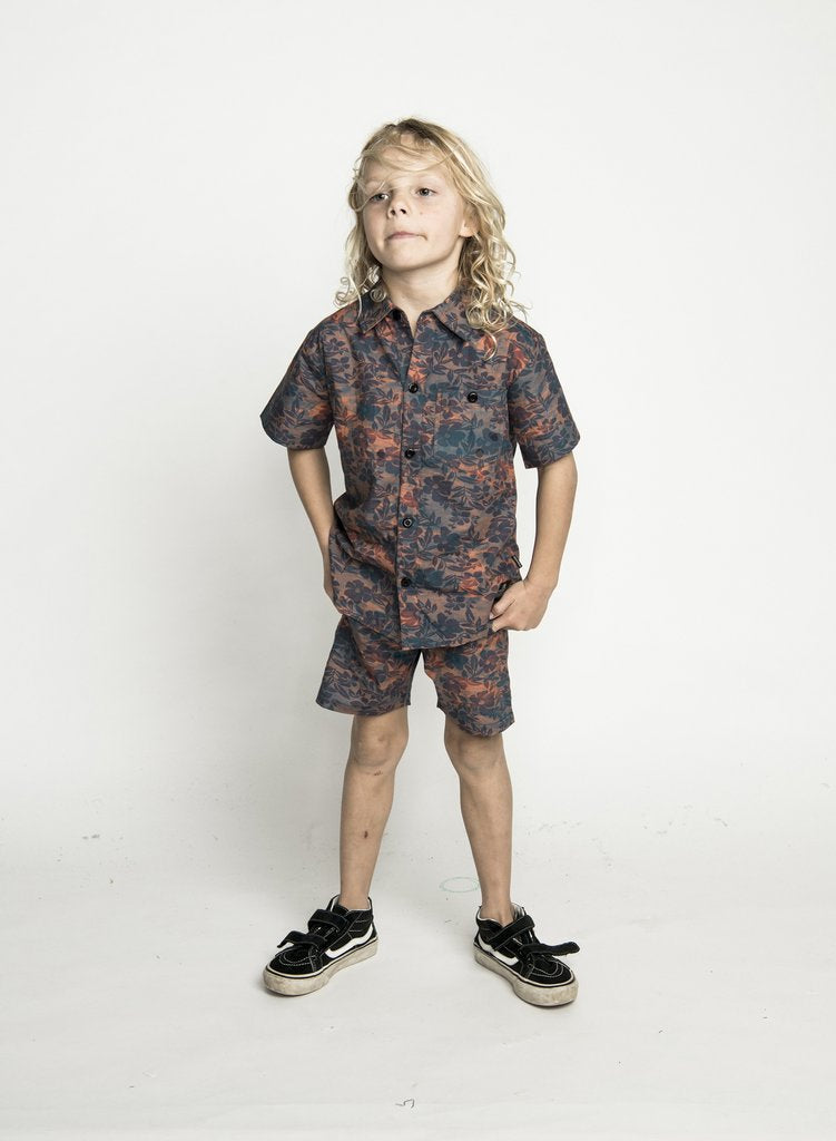 Munster Kids - Rotton Shirt - Navy Red Floral