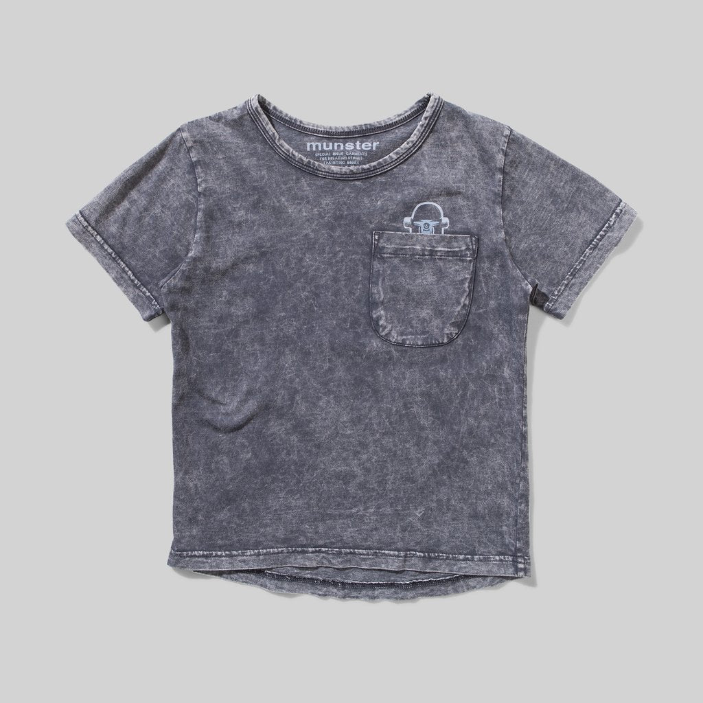 Munster Kids - Can Skate Tee - Washed Black