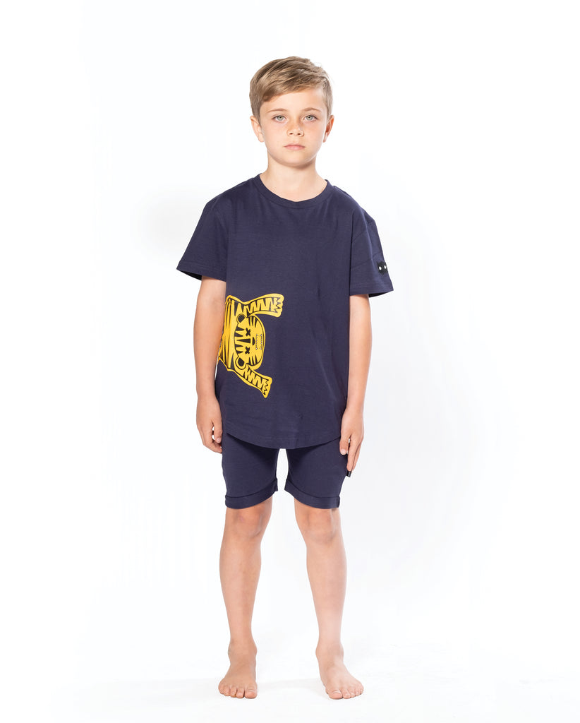 band of boys orange tiger pj set
