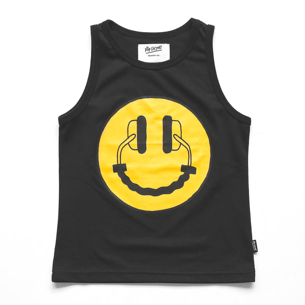 pop factory happy headphones singlet