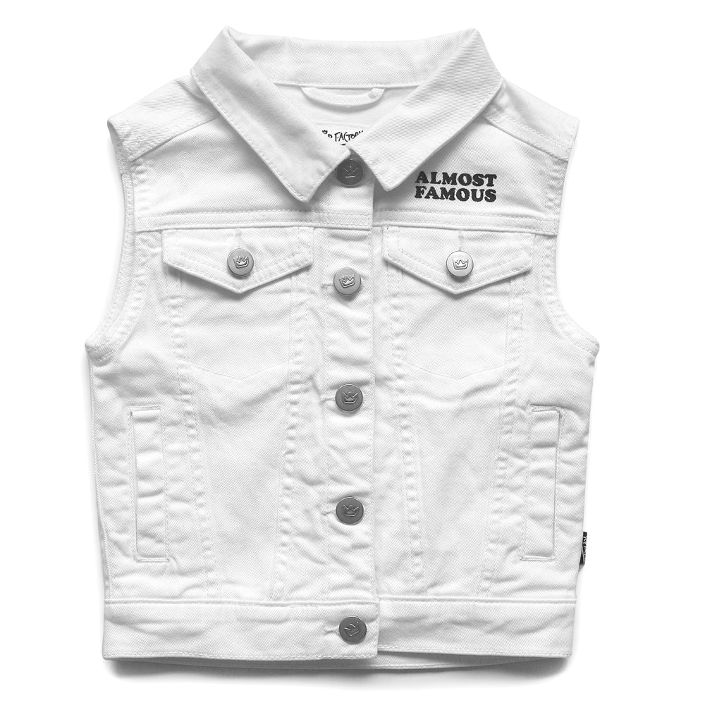 pop factory almost famous denim vest